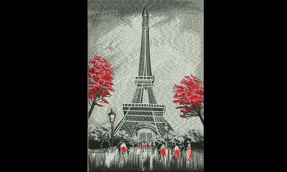Embroidery Digitizing Eiffel Tower