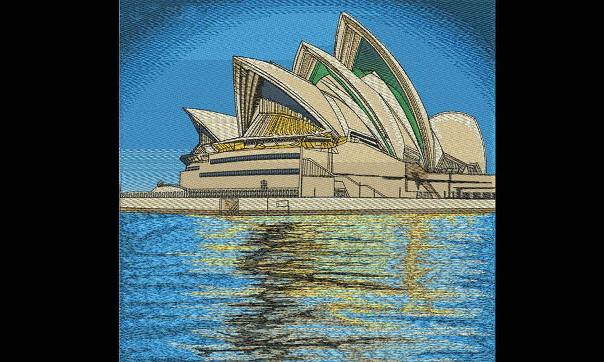Embroidery Designs For Opera House Sydney