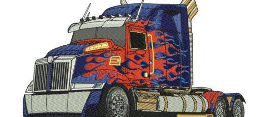 Embroidery Digitizing For Optimus Prime