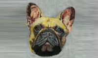 Custom Embroidery French Dog Digitizing