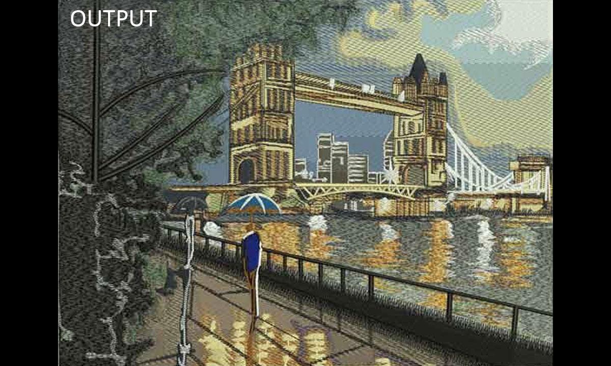 Embroidery London Tower Bridge Digitizing