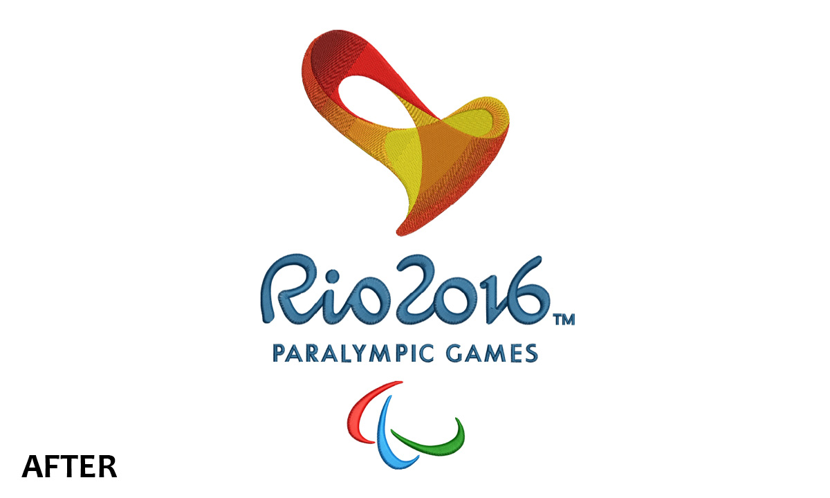 Embroidery Rio 2016 Paralympic Games Logo