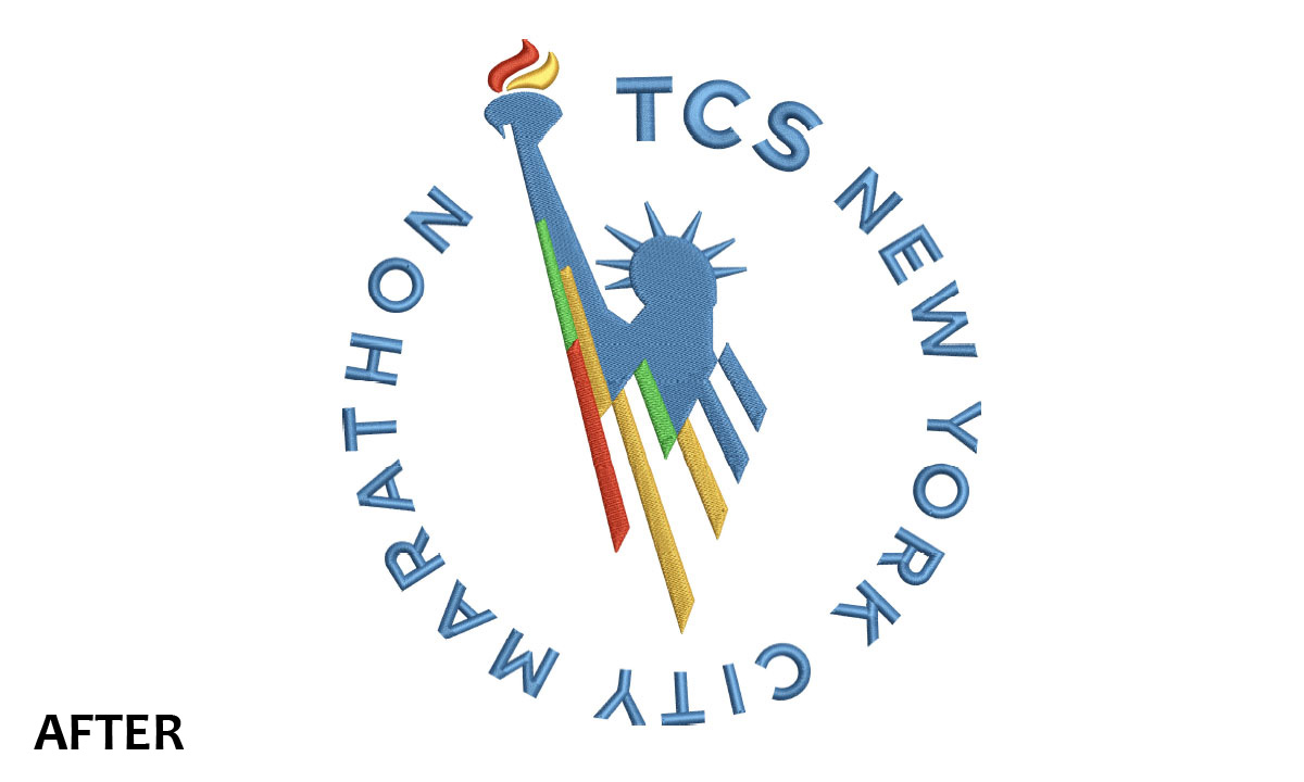 Embroidery New York City Marathon 2016 Logo