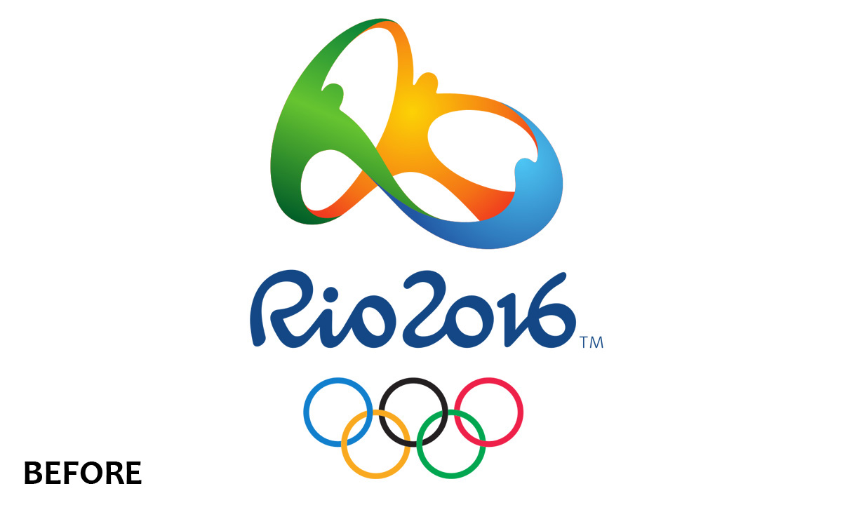 Embroidery Rio 2016 Olympics Logo