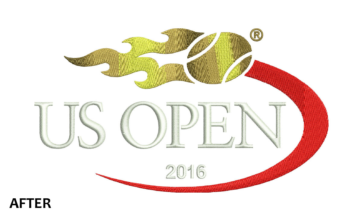 Embroidery US OPEN 2016 Logo
